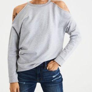 AE cold shoulder sweatshirt size xs